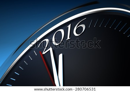 Last Minutes to 2016 - stock photo