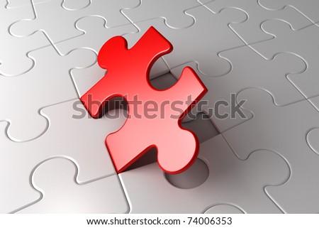 last puzzle - stock photo