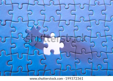 Last Puzzle Piece  - stock photo