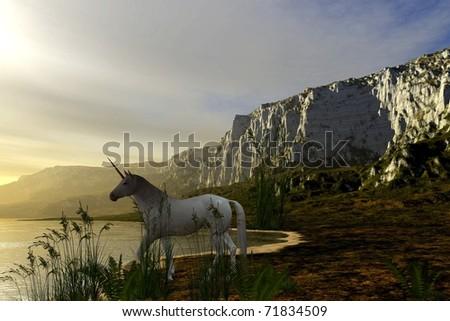 Last Unicorn - stock photo