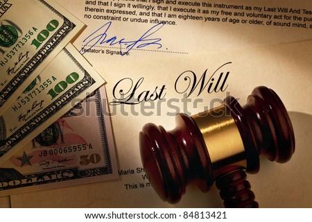 last will - stock photo