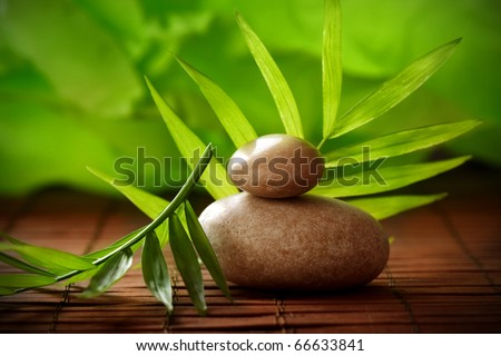 Lastone therapy - massage stones - stock photo