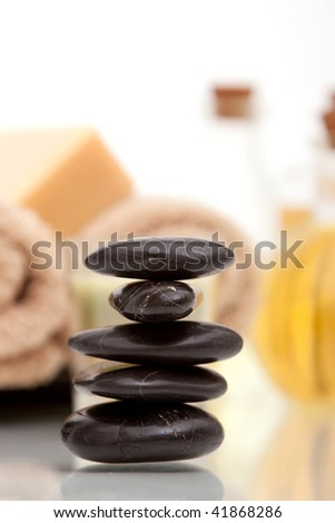Lastone therapy stones with spa objects
