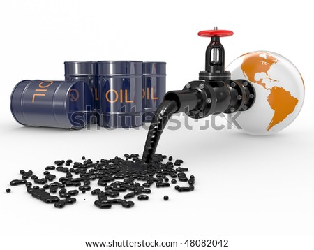 Latch on a white background in a planet the earth - stock photo