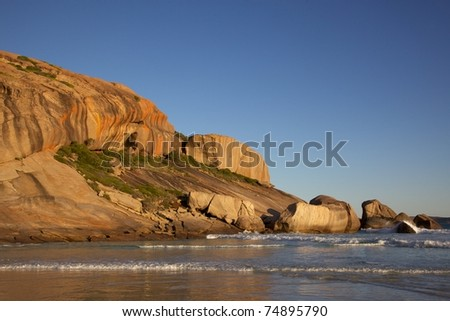 Late afternoon at West Beach, in the town of Esperance, Western Australia. - stock photo