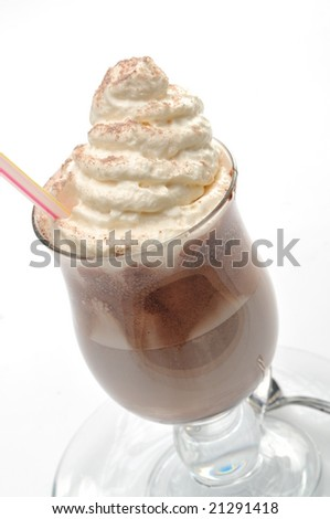 late coffee with chocolate - stock photo