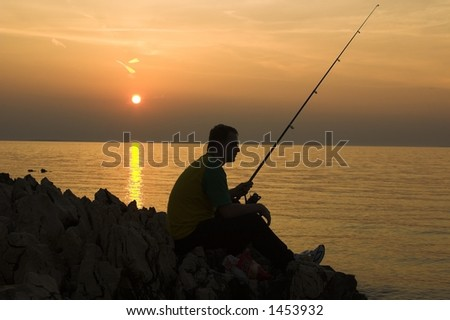 late fishing - stock photo