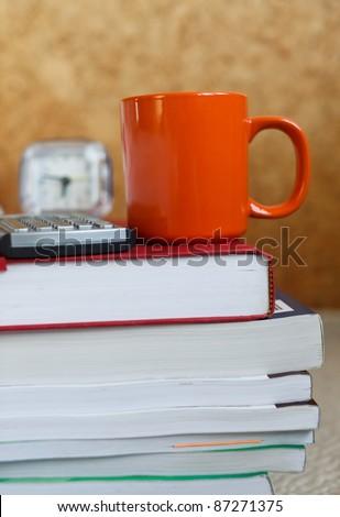 Late night study - stock photo