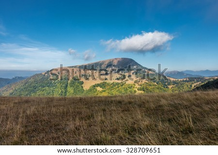 Late summer in the mountains - Borisov hill - Greater Fatra National park, Slovakia, Europe - stock photo