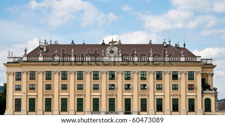 Lateral view of Schonbrunn Palace from Wien