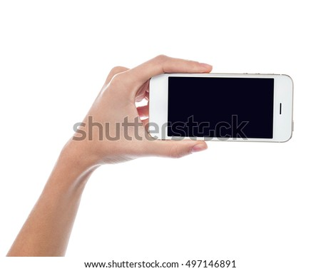 Latest cellphone being displayed for sale