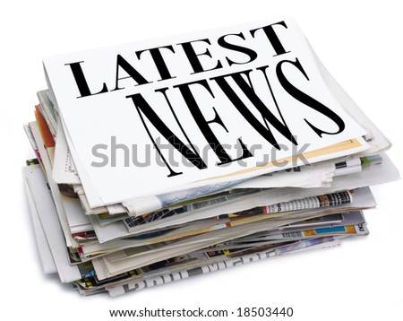Latest news - stock photo