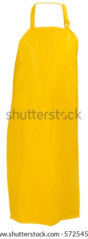 Latex apron. Isolated - stock photo