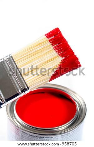 Latex House Paint - Home Improvement - stock photo
