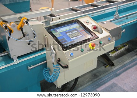 lathe control panel - stock photo
