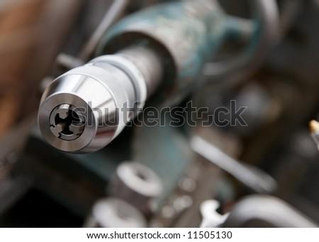 Lathe Detail - stock photo