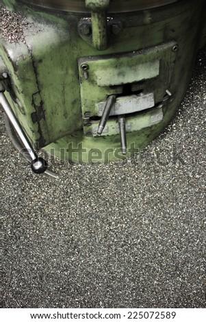 Lathe machine - stock photo