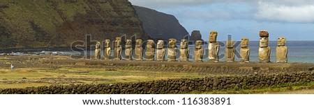 Latin America, Chile, Easter island, October, 2012. - stock photo