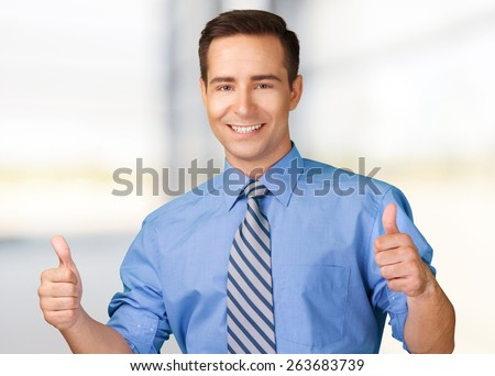 Latin American and Hispanic Ethnicity, Men, Thumbs Up. - stock photo