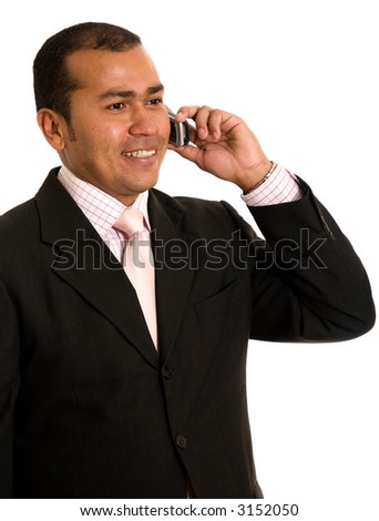 latin american business man on the phone