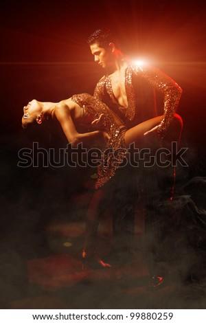 Latin dance couple - Edited Version - stock photo