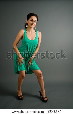 Busty Latina In Heels