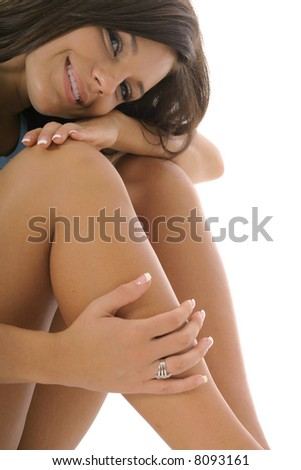 latino woman resting