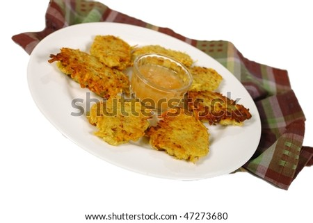 Latkes, potato cakes - stock photo