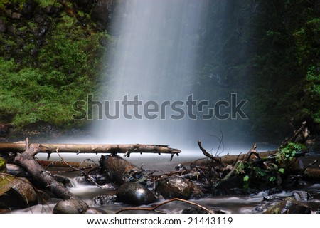 Latourell falls by the Columbia Gorge Scenic Highway, Oregon - stock photo