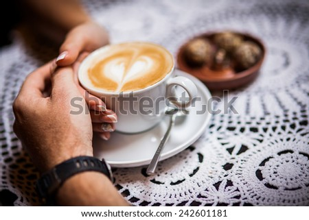 latte, arms - stock photo