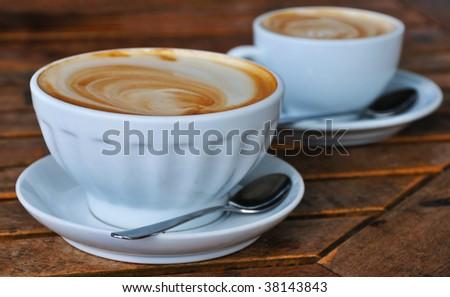 Latte Cappuccino - stock photo