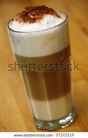 Latte macchiato - stock photo