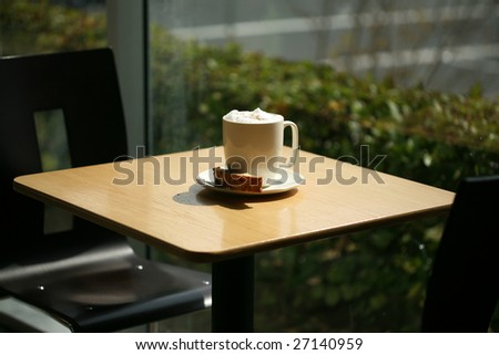 latte with shallow depth of field - stock photo