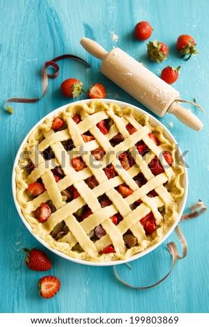 Lattice pie - stock photo