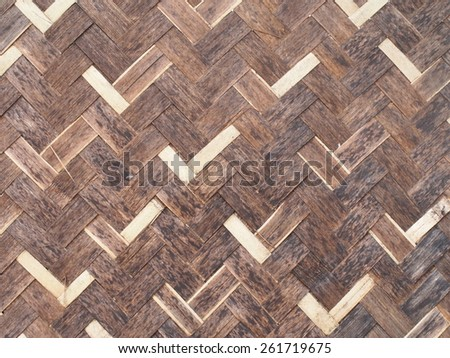 Lattice work bamboo wall - stock photo