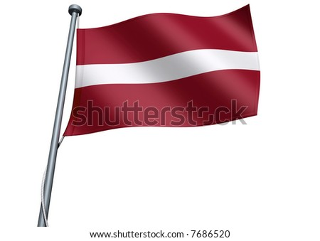 Latvia Flag - stock photo