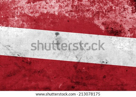 Latvia Flag with a vintage and old look - stock photo