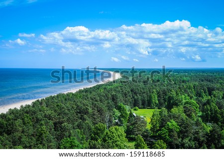 Latvia. Seaside - stock photo