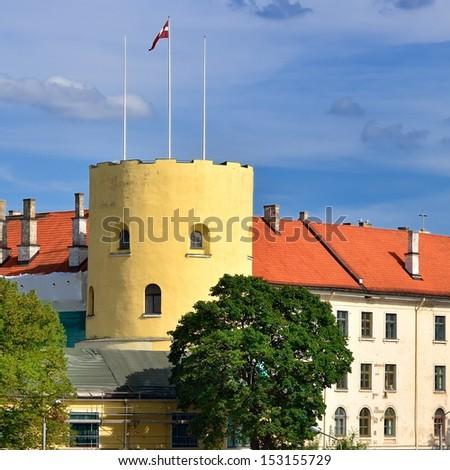 Latvian president palace - stock photo
