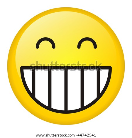Laugh symbol - stock photo