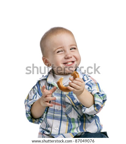 laughing  baby boy isolated