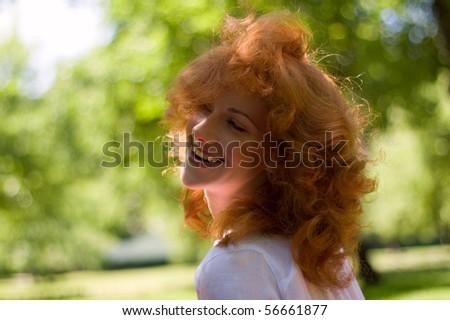 Laughing beautiful girl - stock photo