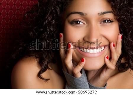 Laughing Black Woman - stock photo