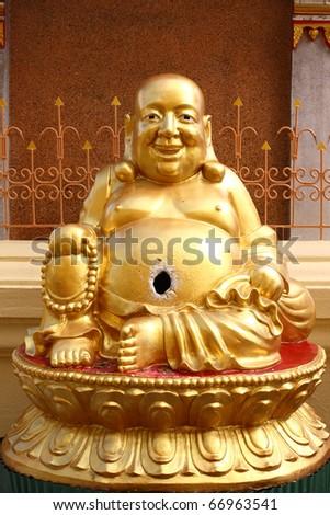Laughing Buddha - stock photo