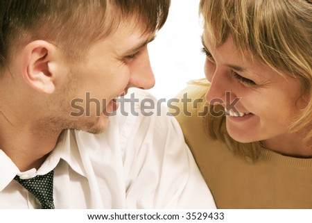 Laughing couple.
