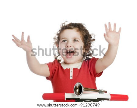 laughing girl - stock photo