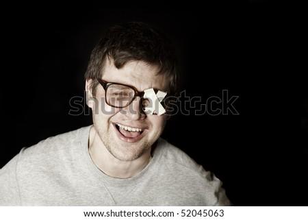 laughing guy - stock photo
