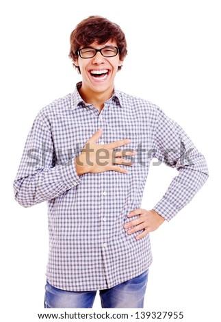 Laughing man - stock photo
