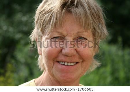 laughing retiree - stock photo