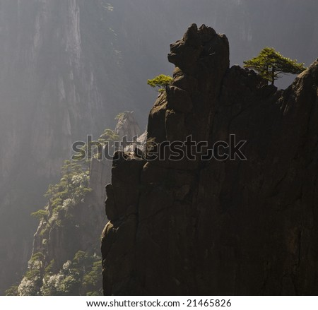 Laughing stone pig in central China - stock photo
